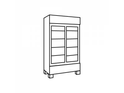 Double Door Glass Fridge/ Freezer